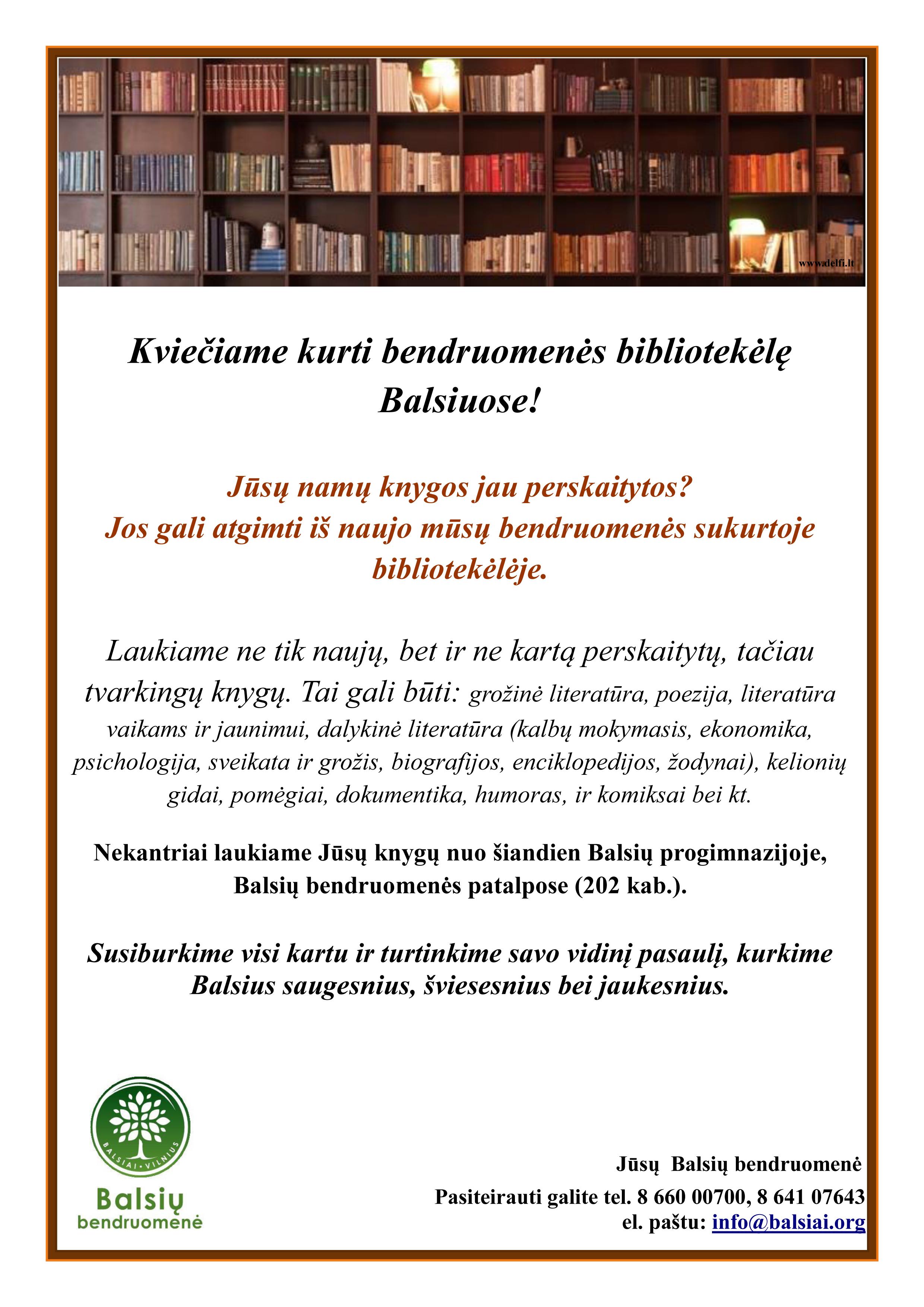 Bibliotekos skelbimas