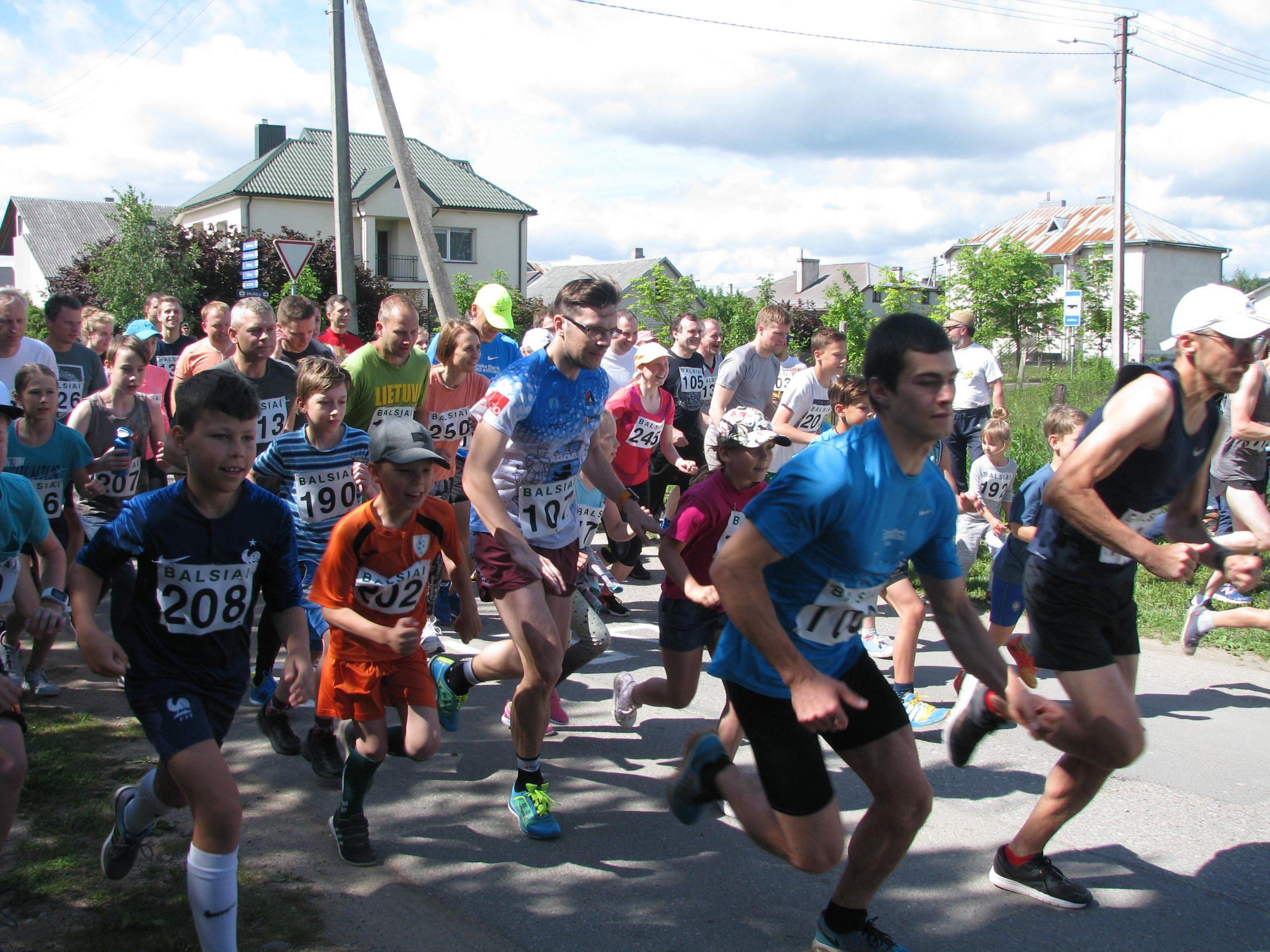 Tradicinis bėgimas Balsių gatvėmis 3.3 km.