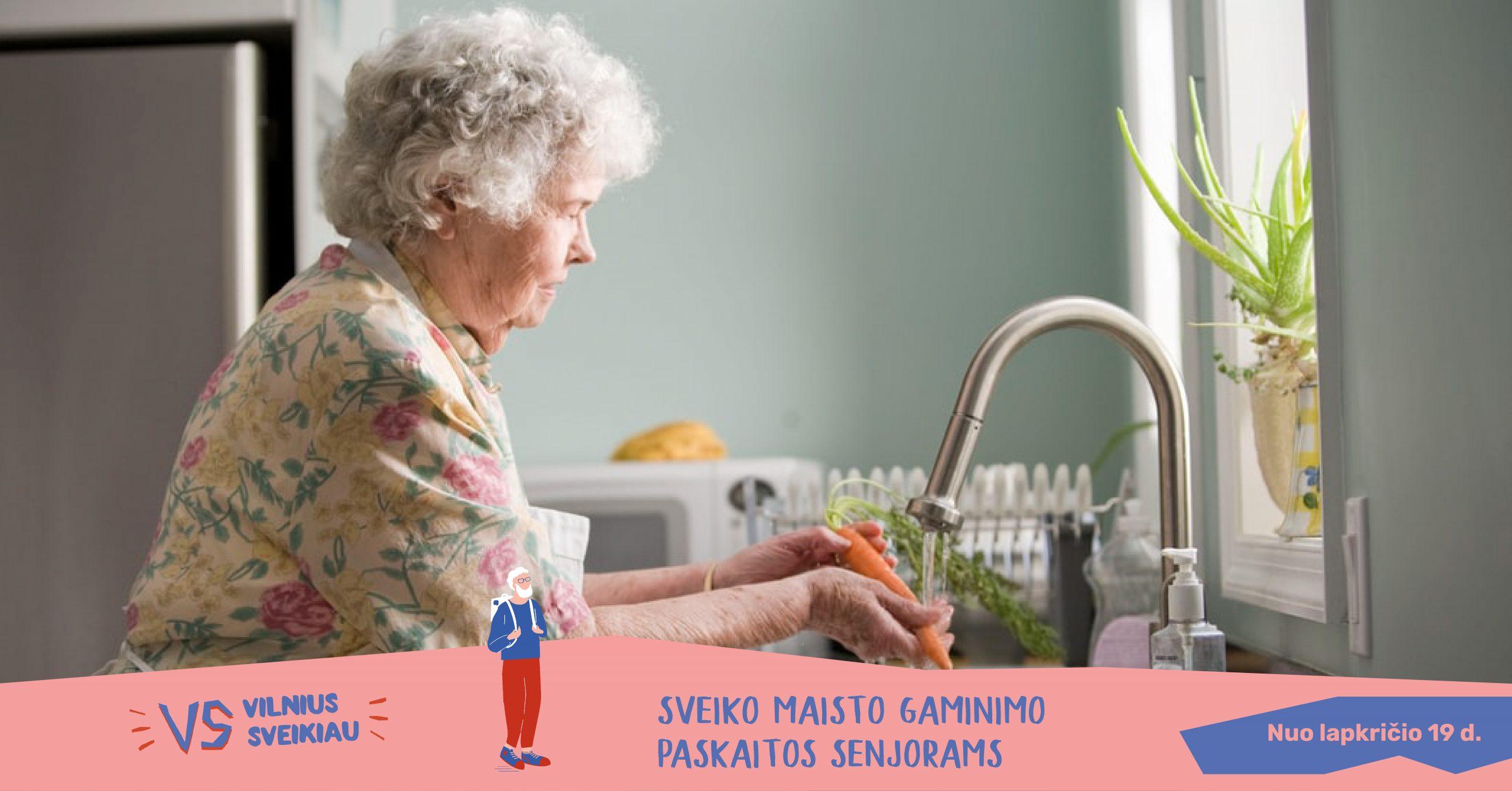 Sveiko maisto gaminimo paskaitos senjorams